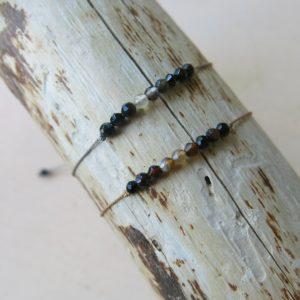feines Armband 'Achat' Steinchen-2502