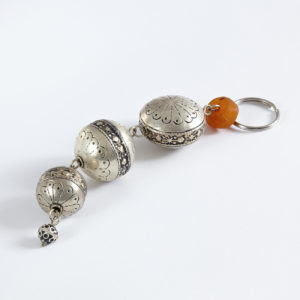silberner Schlüsselanhänger aus Maillechort Silber-0