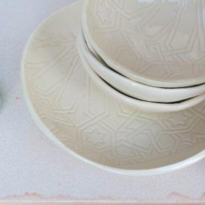 handgemachte Keramik Schale mit marokkanischem Fliesen-Muster-306