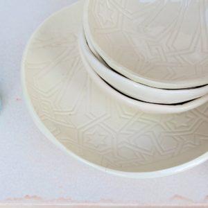handgemachter Keramik Teller mit marokkanischem Fliesen-Muster-2442