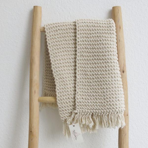 handgestrickte Badematte Baumwolle-0