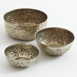 Hamamschale vintage - Silber mit dekorativem Ornament-1610