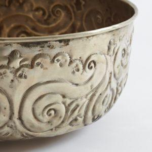 Hamamschale vintage - Silber mit dekorativem Ornament-1616