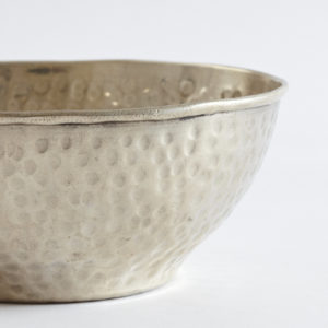 vintage Hamamschale Silber mit gehämmerter Oberfläche-0