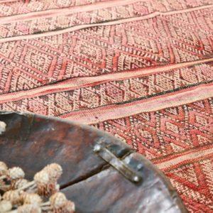 Berber Kelim Teppich Marokko - pink-coral-0