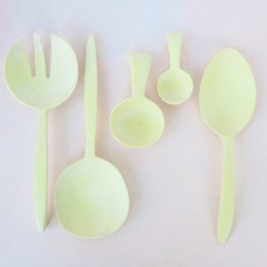 Holz-Salatbesteck aus Zitronenholz-382