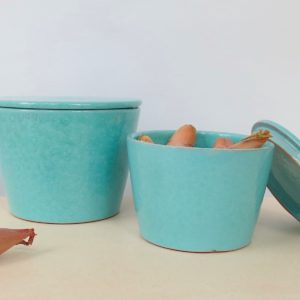 Keramikbehälter mit Deckel-1999