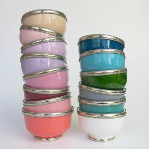 marokkanische Keramik - Schälchen mit Silberrand-3930