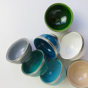 marokkanische Keramik - Schälchen mit Silberrand-3932