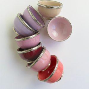 marokkanische Keramik - Schälchen mit Silberrand-3929