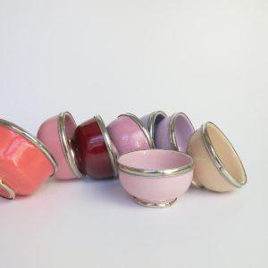 marokkanische Keramik - Schälchen mit Silberrand-3933
