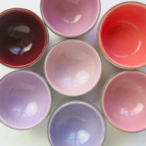 marokkanische Keramik - Schälchen mit Silberrand-3928