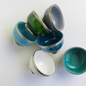 marokkanische Keramik - Schälchen mit Silberrand-3931