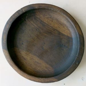 flache Holzschale - Berber vintage-0