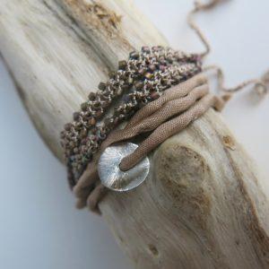 doppeltes Häkel-Armband mit japanischen Glasperlen -2933