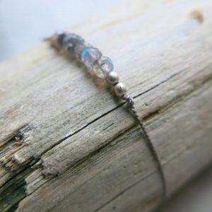 feines Armband Labradorit und Silberperlchen-2973