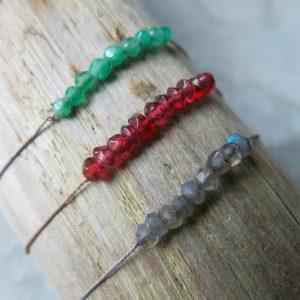 feines Armband Granat, Jade oder Labradorit-3003