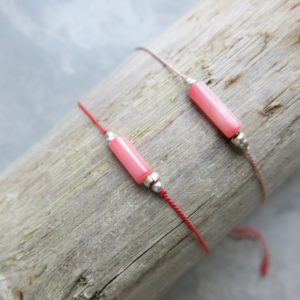 feines Armband Stiftkoralle und Silberperlchen-0
