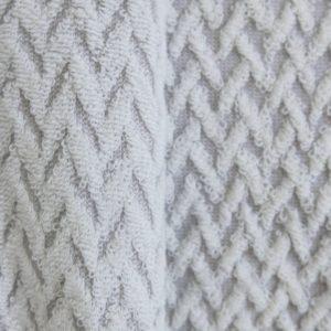 Badetuch Baumwollfrottee mit Fischgrätmuster-1588