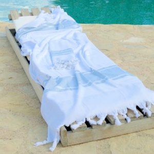 Badetuch und Handtuch leichter Baumwoll-Frottee Qualität-0