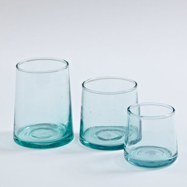 mundgeblasenes Glas konische Form-0