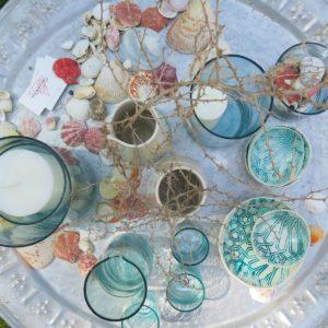 Vase in verschiedenen Größen aus mundgeblasenem Glas-1018