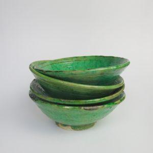 grüne Keramik Servierschale - besonderer Grünton-4005