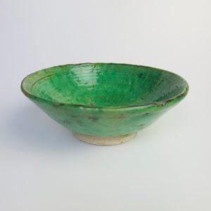 grüne Keramik Servierschale - besonderer Grünton-4003