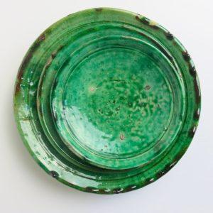 grüne Keramik Teller - besonderer Grünton-4019