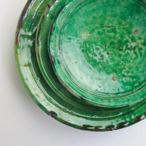 grüne Keramik Teller - besonderer Grünton-0