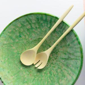grüne Keramik Servierplatte - besonderer Grünton-2893