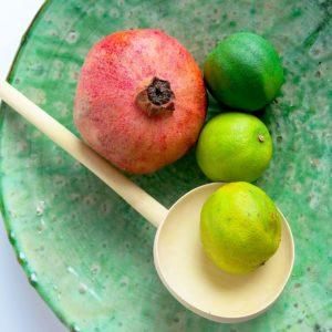 grüne Keramik Servierplatte - besonderer Grünton-2889