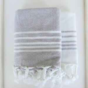 Baumwoll Gästetuch - farbig mit weissen Streifen-4304