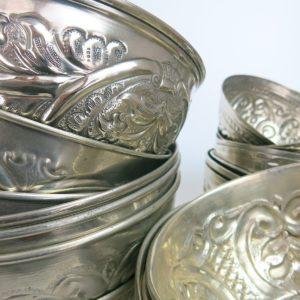 Hamamschale vintage - Silber mit dekorativem Ornament-3336