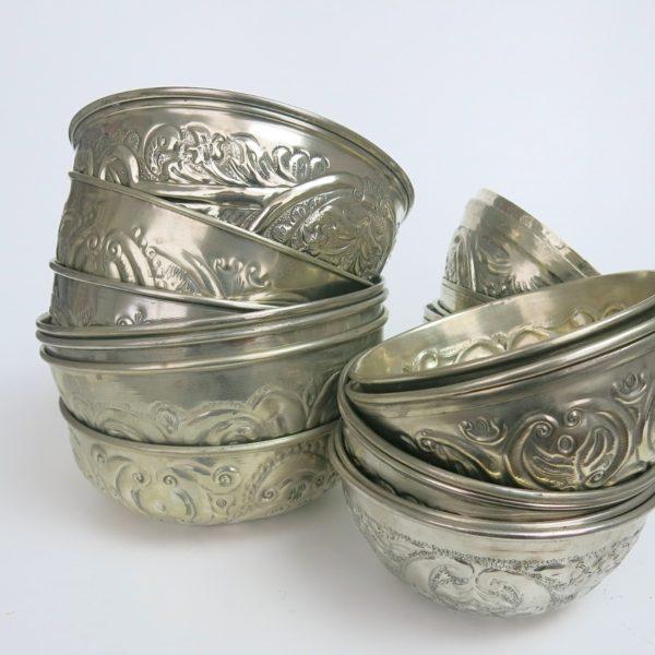 Hamamschale vintage - Silber mit dekorativem Ornament-0