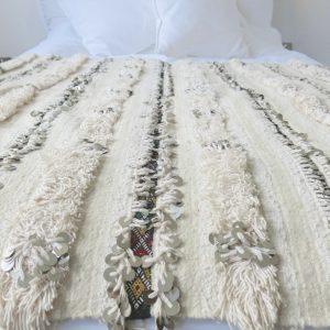marokkanische vintage Handira Decke - Berber-4095