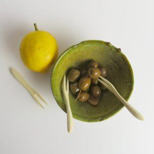 Holzgabel klein aus Zitronenholz-3379