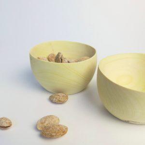 Holzschale aus Zitronenholz - höherer Rand-3943