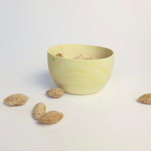 Holzschale aus Zitronenholz - höherer Rand-3944