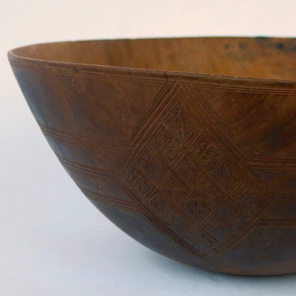 Holzschale Tuareg vintage - Einzelstück-0
