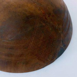 Holzschale Tuareg vintage - Einzelstück-1818