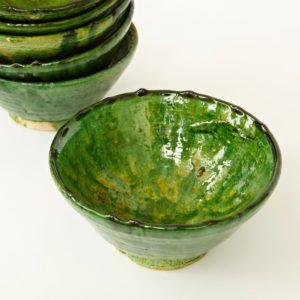 grüne Keramik Schale - Marokko-2512