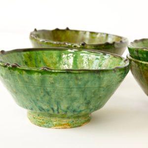 grüne Keramik Schale - Marokko-2511
