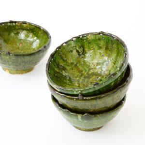 grüne Keramik Schale - Marokko-2510