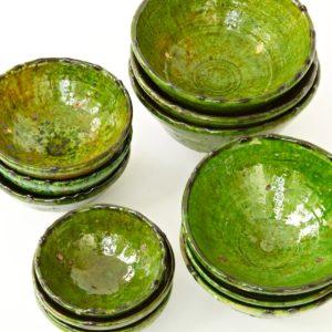 grüne Keramik Schale - Marokko-2513