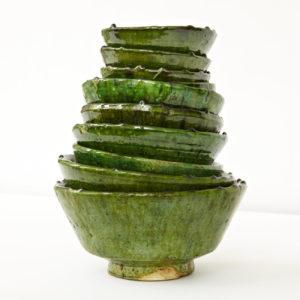 grüne Keramik Schale - Marokko-0