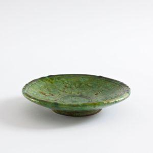 grüne Keramik Teller - Marokko-2529
