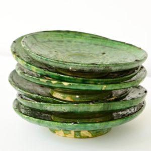 grüne Keramik Teller - Marokko-2545