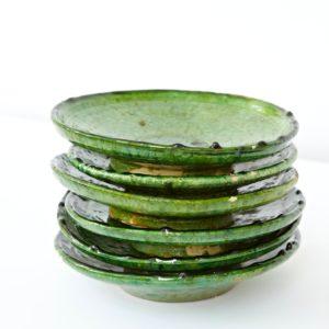 grüne Keramik Teller - Marokko-2546