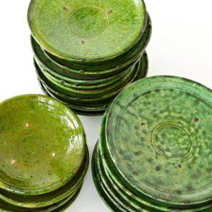 grüne Keramik Teller - Marokko-2528